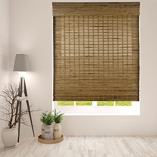 Arlo Blinds Dali Native Cordless Bamboo Shades Blinds – Size 46.5 W x 60 H, Cordless Lift System ensures Safety and Ease of use.