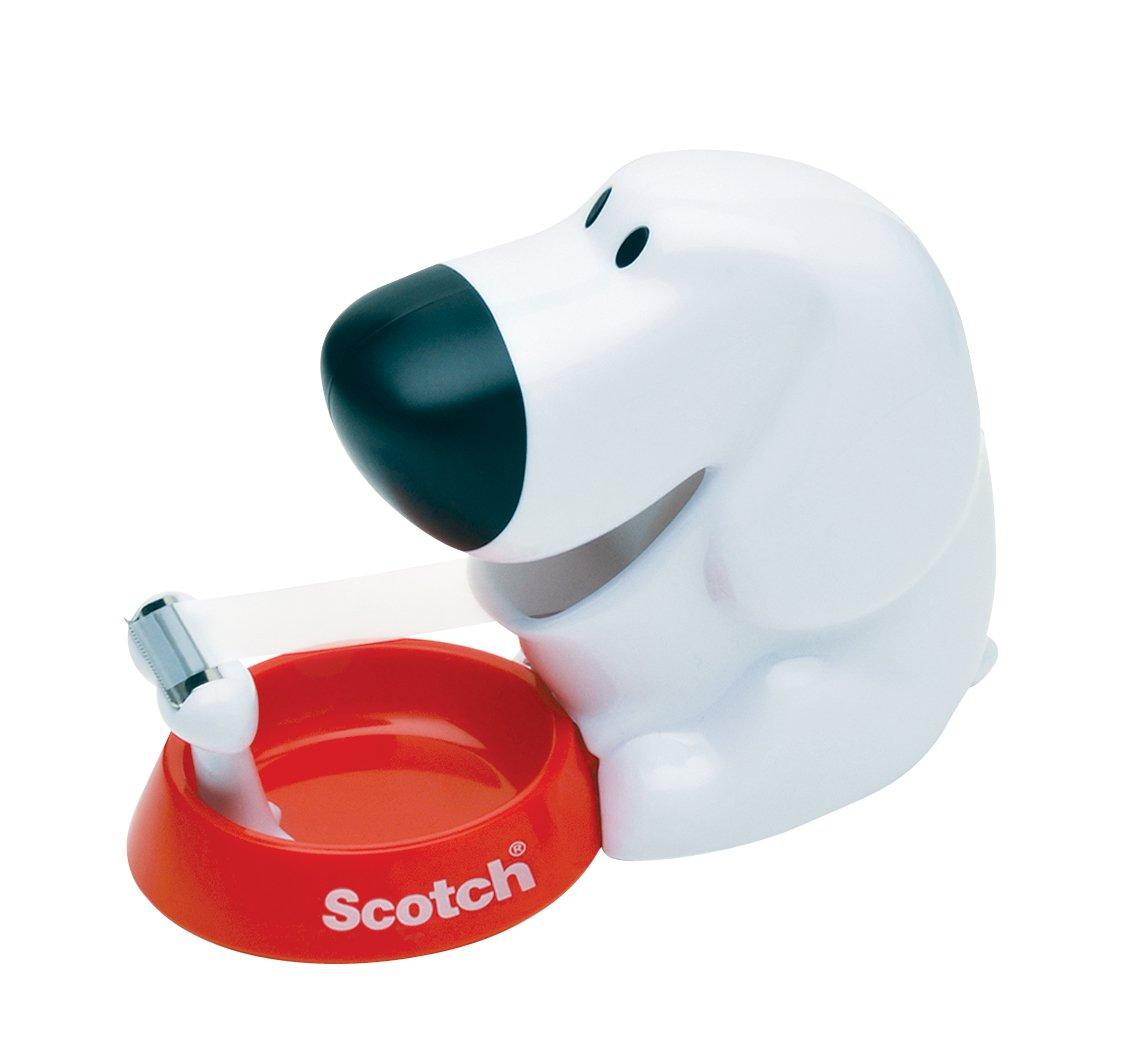 Scotch Dog Tape Dispenser with Scotch Magic Tape, 3/4 x 350 Inches, 1 Roll, 1 Dispenser (C31-DOG) by Scotch Brand