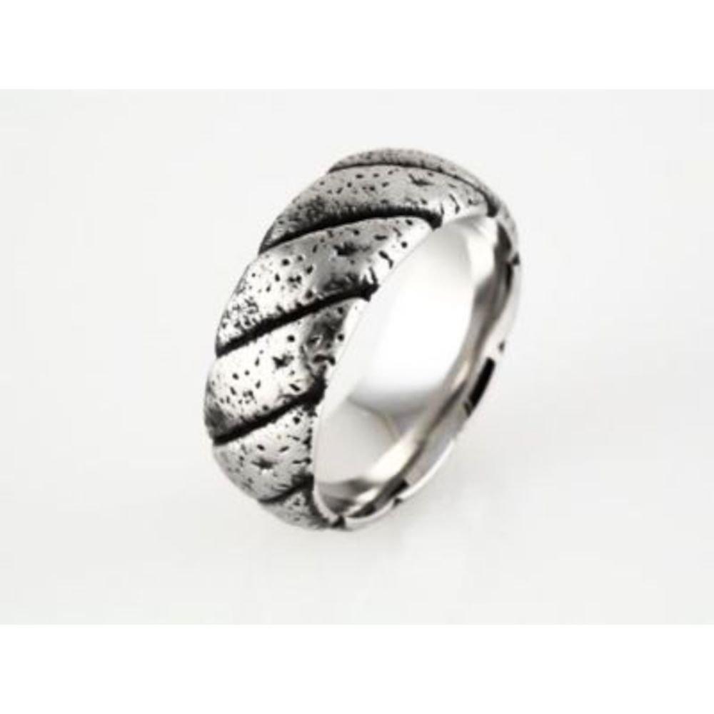 Bonyak Jewelry Black PVD Cobalt 9 mm Design Band Size 11 in Cobalt