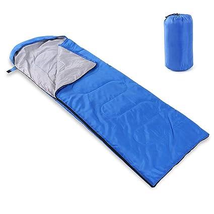 Lixada Saco de Dormir Ultra Ligero 180 * 75cm 5-15°C Sin Capucha/con Capucha para Acampada Senderismo al Aire Libre