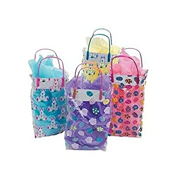 Colorful pattern easter gift bags amazon kitchen home colorful pattern easter gift bags negle Choice Image