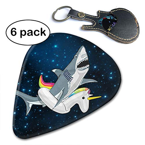 - Leopoldson Funny Shark Unicorn Gifts Guitar Picks Guitar Accessories (6pc) Celluloid Guitar Picks Plectrums for Musice Gift Music Lover