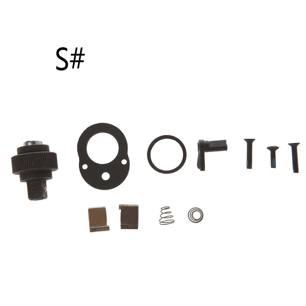 'manyo 1 Juego de llave de trinquete Llave –  72 dientes –  Kit de accesorios de reparació n para Notebook, 1/4 '3/8' 1/2, Negro 1/43/8 1/2