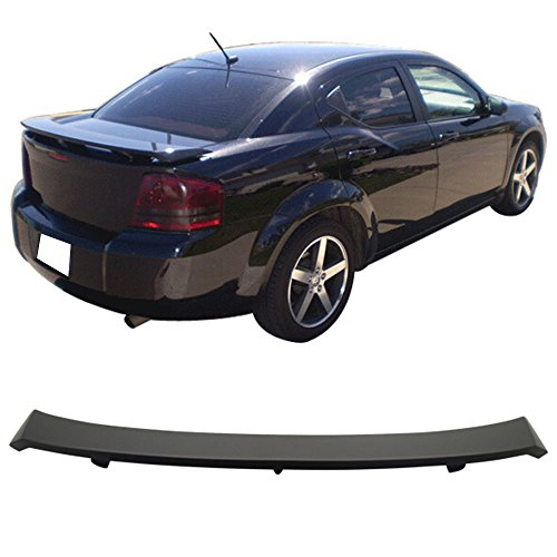 - Trunk Spoiler Wing Fits 2008-2014 Dodge Avenger | OE Style Primer Matte Black ABS Car Exterior Trunk Spoiler Rear Wing Tail Roof Top Lid by IKON MOTORSPORTS | 2009 2010 2011 2012 2013