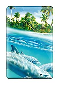 High Impact Dirt/shock Proof Cases Covers For Ipad Mini (hd Dolphins)