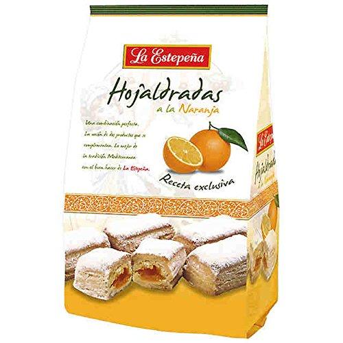 (La Estepeña Hojaldrada de Naranja/Puff Pastry with Orange Filling 400g)