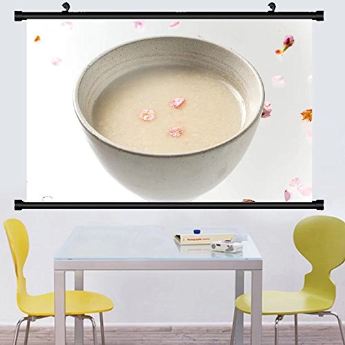 Gzhihine Wall Scroll Posterdrink of sweet alcoholic drink made from sake lees japan amaze ,Wall Art Paiting on Canvas 24