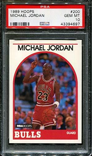 - 1989 HOOPS #200 MICHAEL JORDAN BULLS HOF PSA 10 K2308731-459