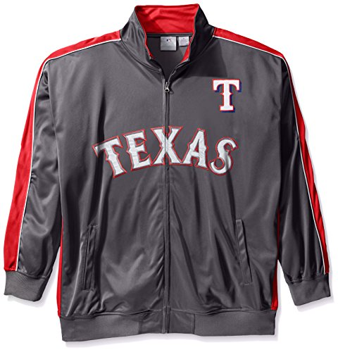 Profile Big & Tall MLB Texas Rangers Men's Team Reflective Tricot Track Jacket, 3X, -
