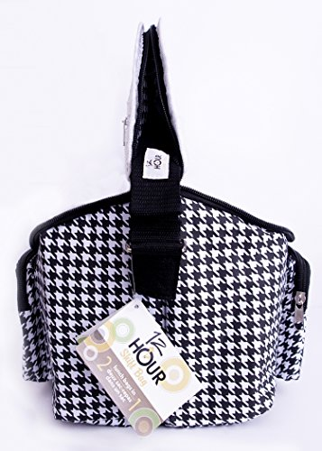 Adult's 12-hour Shift 2-sided Lunch Bag - Shift Houndstooth