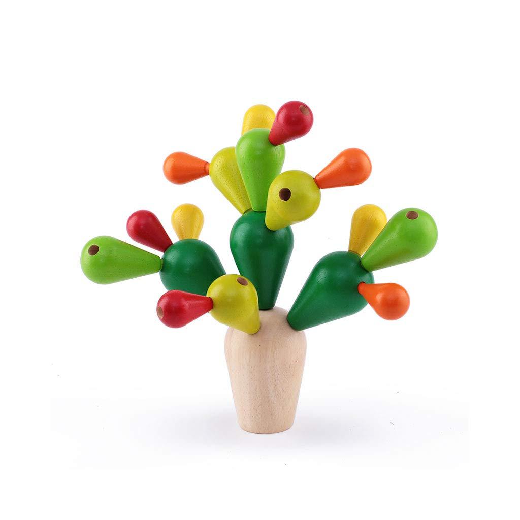 ホットセール HXGL-おもちゃ Green Green) 木製のウチワサボテンのマルチカラーのおもちゃのバランスの子供のギフト (色 : (色 Green) B07MB4VQRX Green, ラスティエンジェル:5f4042a1 --- svecha37.ru