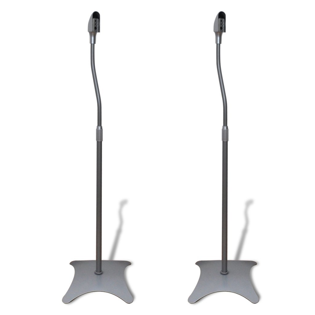 Anself Universal Speaker Stand Set of 2 Black