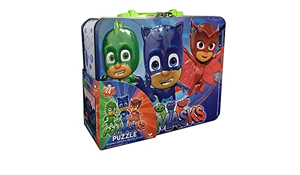 PJ Masks Lunch Box Tin with Handle Themed Jigsaw Puzzle - 24-Piece: Amazon.es: Juguetes y juegos