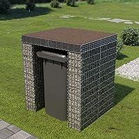 ghuanton Muro de gaviones para contenedor de Basura Acero ...