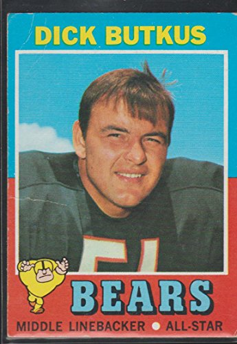 Football Card 1971 Topps (1971 Topps Dick Butkus Bears Football Card #25)
