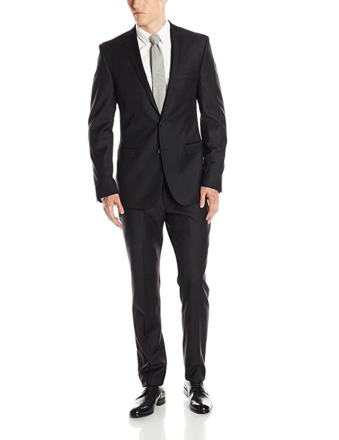 New Adam Baker Men's Slim Fit Single Breasted Notch Lapel 2-Piece Solid Suit Set - Colors free shipping