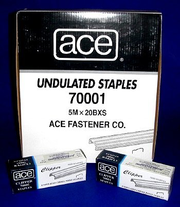 Ace Office Supplies ACE-70001 Undulated Staples 1 Sleeve ...
