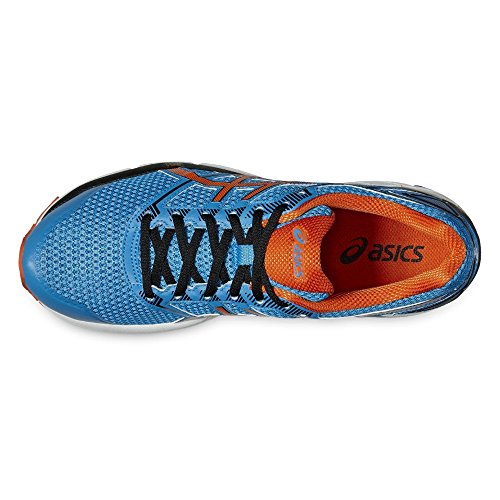 Asics T6f2n 4309, Zapatillas de Deporte Unisex Adulto Varios colores (Blue Jewel /         Flame Orange /         Black)
