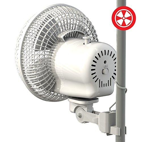 """51IkMpoIFPL - Secret Jardin Oscillating Monkey Fan 20W Fits 0.63"""" - 0.83"""" Inch Grow Tent Poles"""