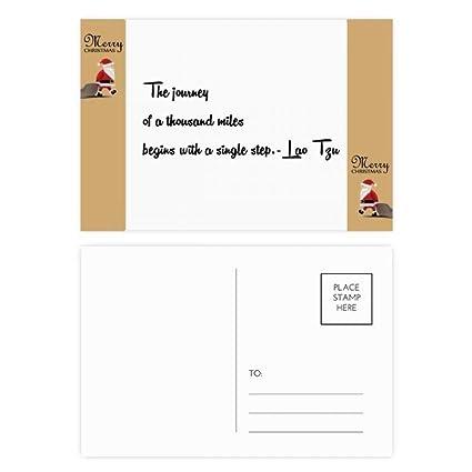 Tarjeta de agradecimiento inspiradora de Lao Tzu Santa Claus ...