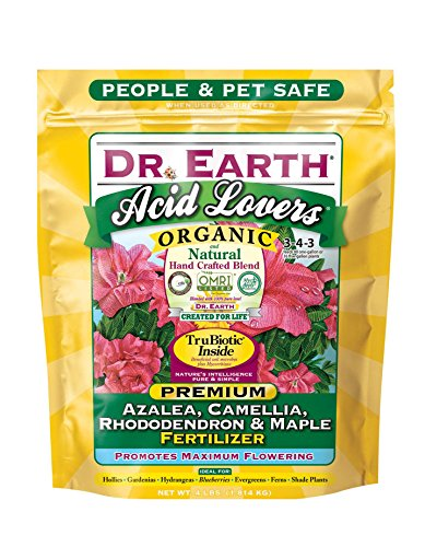 Dr. Earth Acid Lovers Azalea, Camellia, Rhododendron & Maple Fertilizer 4 lb (Best Soil For Azaleas)