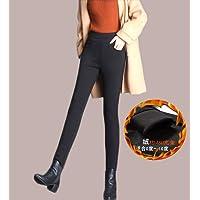 女士冬款加绒加厚保暖外穿打底裤高腰大码胖mm黑色紧身长裤子LK819