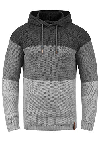 8288 Homme nbsp; Grey Melange solid Sweater À Ulberto Capuche Dark a7qza