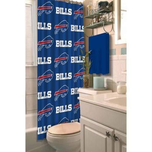 Buffalo Bills Shower Curtain - NFL Fabric Shower Curtain Buffalo Bills 72