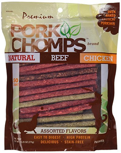 00 Count Pork Chomps Assorted Munchy Sticks Treat ()