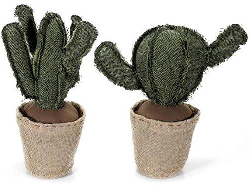 Ideapiu – 2cale-portes cactus en tissu rembourré