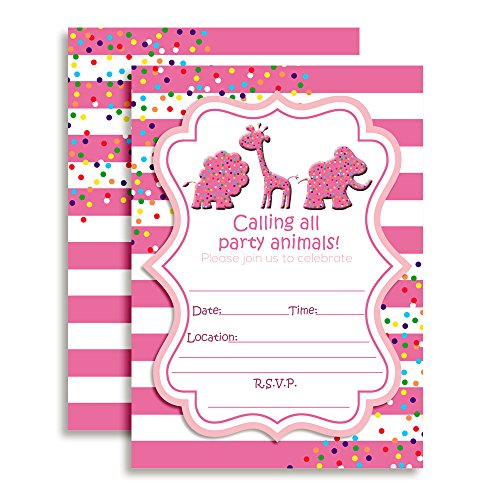 - Animal Cookies and Crackers Circus Themed Birthday Party Invitations, 20 5
