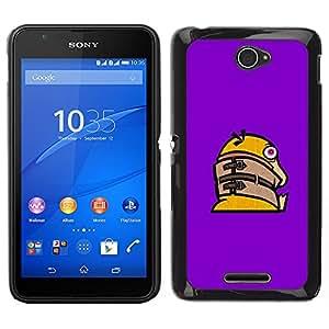LECELL--Funda protectora / Cubierta / Piel For Sony Xperia E4 -- Divertido Crazy Duck --