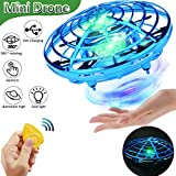 Flying Toy Ball Rc Toys Induction Flying Toy Mini Drones Helicopter Airplane with LED Lights Hand & Remote Controlled for 3+ Kids Girls Boys Indoor and Outdoor Gifts for Birthday (Flying Ball UFO)