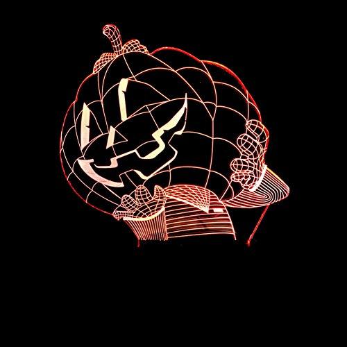 (HRUIHKV 3D Pumpkin Man LED Night Light Pumpkin Hat Table Lamp 7 Colors Atmosphere Baby Sleep Lights Halloween Bedside)