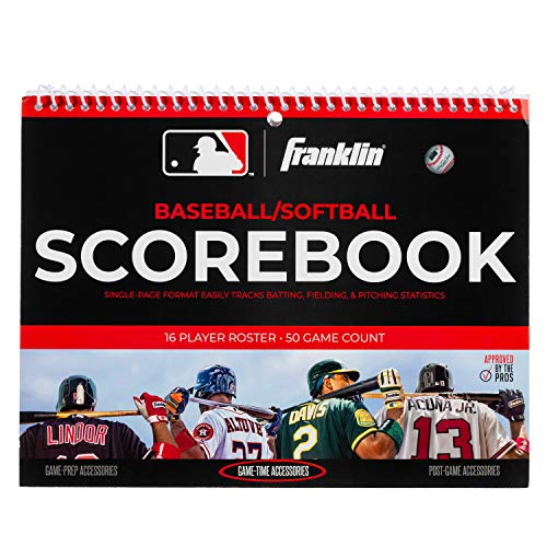 Franklin Sports MLB Baseball/Softball Scorebook