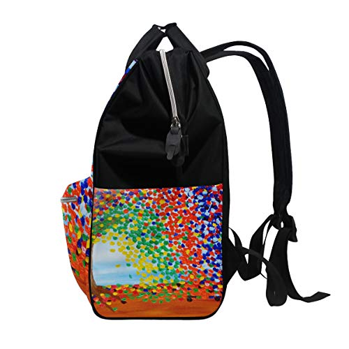 Retro Canvas Multi7 Mummy Function Capacity Muti Art Sunflower Travel Women Bag Large Backpack for Bag ZznnAwdq