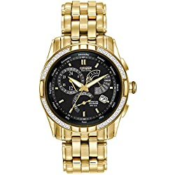 """Citizen Men's BL8042-54E """"Calibre 8700"""" Stainless Steel Diamond-Accented Eco-Drive Watch"""