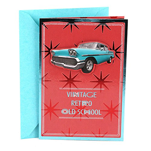 Hallmark Birthday Greeting Card for Him (Vintage Car)