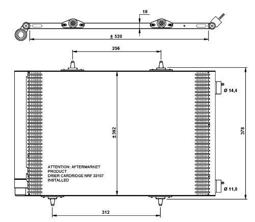 NRF 35779 Kondensator Klimaanlage