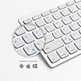 "Anker Bluetooth Ultra-Slim Keyboard for iPad Air 2 / Air, iPad Pro, iPad mini 4 / 3 / 2 / 1, iPad 4 / 3 / 2 , New iPad 9.7""(2017), Galaxy Tabs and Other Mobile Devices (White)"