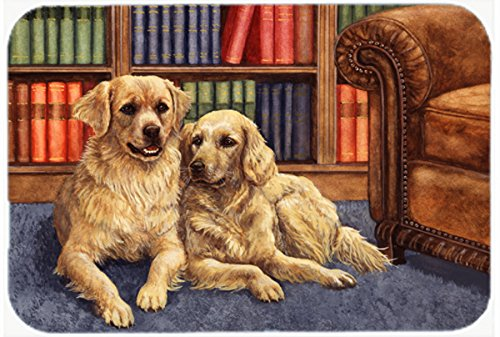 Caroline 's Treasures bdba0289jcmt」Golden Retrievers In Theライブラリ」キッチンやバスマット、24