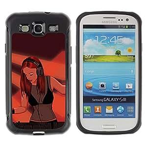 "Pulsar iFace Series Tpu silicona Carcasa Funda Case para Samsung Galaxy S3 III I9300 , Pintura Dj Mujer atractiva muchacha Redhead Jengibre Arte"""