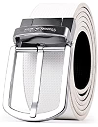 Vincent & Bell Men Belt Reversible Buckle with White Belt 2 in 1