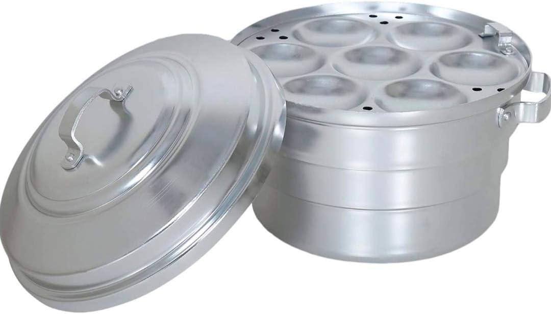 Kumar Aluminium Standard Idli Maker Satti 25 Pot Large Size Cooker (Silver)