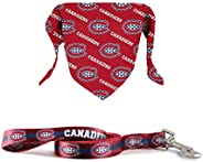 The Sports Vault NHL Licensed 6In Leash & Pet Bandana Montreal Canad
