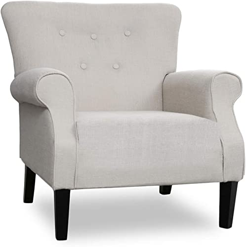 Patio Festival Accent Chair Mid Century Upholstered Roy Arm Single Sofa Modern Comfy Furniture Sofa