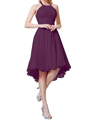 Always Pretty Women's Hi-Lo Chiffon Party Cocktail Bridesmaid Dresses