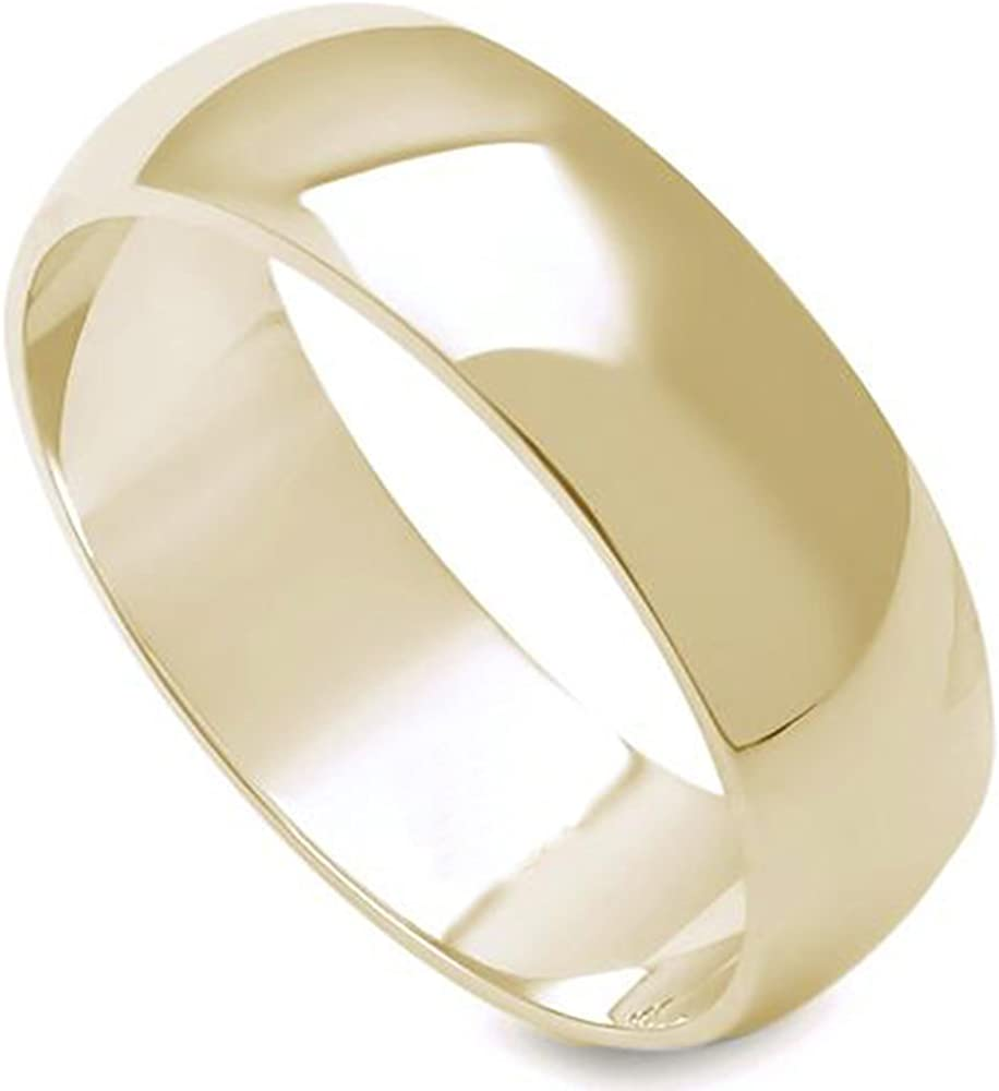 Stainless Steel Comfort Fit 5 mm Wide Band Ring Free Gift Packaging