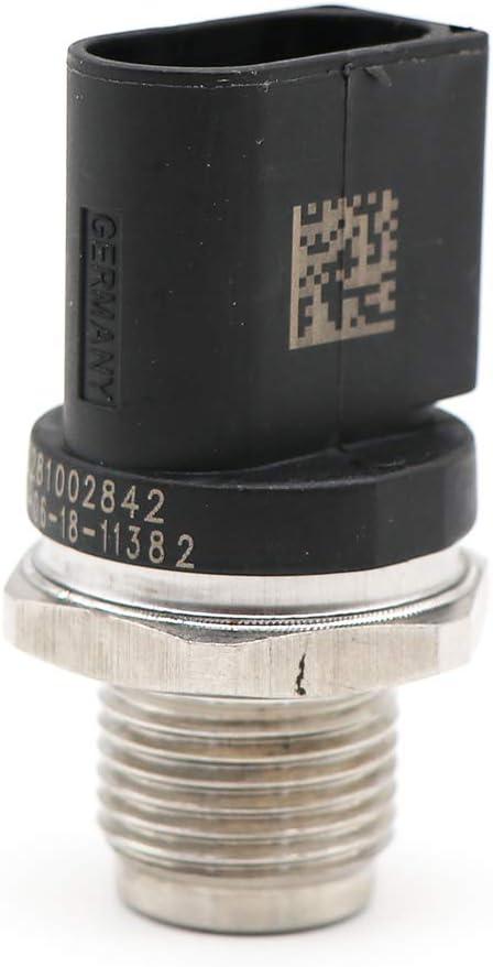 KIPA Rail Fuel Pressure sensor 0041536728 For Mercedes-Benz E320 GL320 ML320 R320 Dodge Sprinter 2500 Sprinter 3500 VOLKSWAGEN Audi 059130758 Replace For Bosch OEM Part Number 0281002842 /& 00615365
