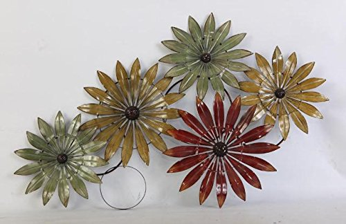 Daisy Star Flower - Metallic  Wall Decor